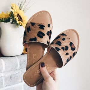 Coconuts by Matisse Cabana Leopard Print Slides